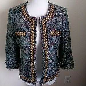 Ellen Tracy Tweed Jacket Size 6